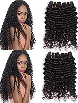 cheap -Brazilian Hair Wavy Human Hair Weaves 6 Hot Sale Extention Human Hair Extensions All Christmas Gifts Christmas Wedding Party Special