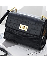 cheap -Women's Bags PU Shoulder Bag Buttons / Zipper for Event / Party Black / Blushing Pink / Gray