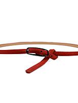 cheap -Women's Basic Leather Alloy Skinny Belt