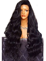 cheap -Virgin Human Hair Wig Brazilian Hair Body Wave Wavy Layered Haircut 180% Density With Baby Hair For Black Women Black Short Long Mid