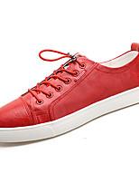 baratos -Homens sapatos Borracha Primavera / Verão Conforto Tênis Branco / Preto / Vermelho