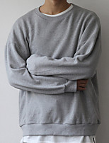 cheap -Men's Basic Sweatshirt - Solid Colored, Ruched