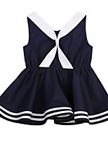 cheap -Toddler Girls' Striped Sleeveless Dress / Cute