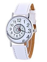 baratos -Mulheres Quartzo Relógio de Moda Chinês Mostrador Grande PU Banda Minimalista Fashion Preta Branco Azul Vermelho Marrom Rosa Bege