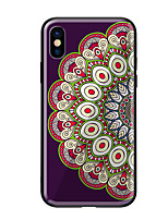 abordables -Funda Para Apple iPhone X iPhone 8 Diseños Funda Trasera Mandala Dura Vidrio Templado para iPhone X iPhone 8 Plus iPhone 8 iPhone 7