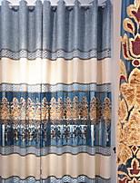 baratos -Cortinas cortinas Sala de Estar Contemporâneo Algodão / Poliéster Bordado