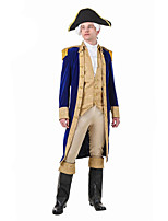 cheap -George Washington Outfits Costume Men's Costume Yellow Vintage Cosplay Vinylon Long Sleeves