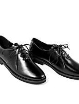 abordables -Femme Chaussures Cuir Cuir Nappa Printemps Automne Confort Oxfords Talon Bas pour Blanc Noir