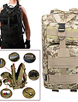 preiswerte -25L Tourenrucksäcke / Rucksack Camping Militär Wandern Reise Regendicht tragbar Oxford ACU Farbe CP Farbe digital-Dschungel Digitale