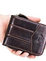 cheap -Unisex Bags Coin Purse Zipper for Casual Office & Career All Seasons Black Coffee
