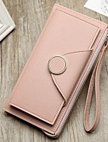 cheap -Women's Bags PU Leather Wallet Buttons Black / Blushing Pink