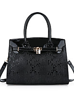 cheap -Women's Bags PU Leather Tote Embossed for Formal / Office & Career Black / Red / Brown