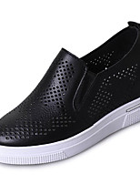 cheap -Women's Shoes PU Summer Comfort Sneakers Flat Heel Round Toe for White Black