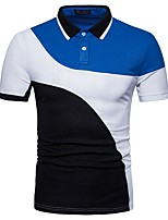 cheap -Men's Basic Polo - Color Block Shirt Collar