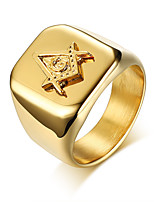 cheap -Men's Band Ring - Geometric Casual Fashion Cool Gold Ring For Daily Formal