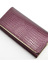 cheap -Women's Bags Cowhide Clutch Zipper for Casual Spring Fall Gold Red Purple