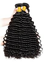Недорогие -Перуанские волосы / Крупные кудри Кудрявый / Крупные кудри Необработанные / Не подвергавшиеся окрашиванию Подарки / Накладки из