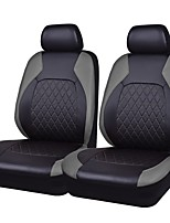 cheap -Seat Covers Gray PU Leather Fabric Business for universal Universal
