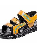 Недорогие -Мальчики / Девочки Обувь Полиуретан Лето Удобная обувь Сандалии для Детские Черный / Темно-синий / Желтый