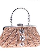 preiswerte -Damen Taschen ABS + PC Abendtasche Perlen Verzierung für Hochzeit / Veranstaltung / Fest Champagner / Weiß