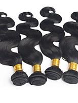 abordables -4 offres groupées Cheveux Péruviens Ondulation naturelle Cheveux humains Tissages de cheveux humains / Extensions Naturelles 8-28 pouce Tissages de cheveux humains Extention / Mode Couleur naturelle