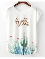 preiswerte -Damen Blumen / Buchstabe - Grundlegend T-shirt