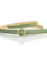 cheap -Women's Cute Leather Alloy Skinny Belt - Solid Colored