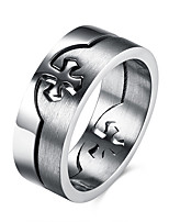 cheap -Men's Ring Set Gray Stainless Cross Casual Daily Street Costume Jewelry