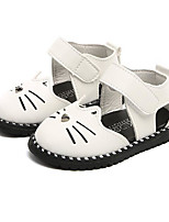 cheap -Girls' Shoes Leatherette Summer First Walkers Comfort Sandals for Casual White Black Pink