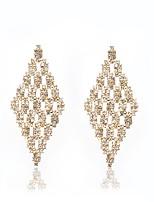 cheap -Women's Cubic Zirconia Rhinestone Drop Earrings - Tassel Vintage Elegant Geometric Line For Wedding Party