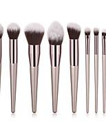 Недорогие -9pcs профессиональный Кисти для макияжа Наборы кистей / Кисть для пудры / Кисть для теней Синтетические волосы / Нейлоновая кисть