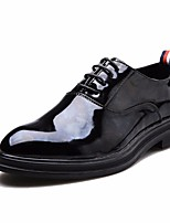 cheap -Men's Shoes PU Spring Fall Comfort Oxfords for Casual Black