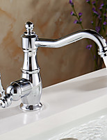 cheap -Bathroom Sink Faucet - Rotatable Chrome Deck Mounted Single Handle One Hole