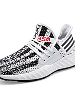 cheap -Men's Shoes Knit Spring / Summer Comfort Sneakers White / Black / Gray
