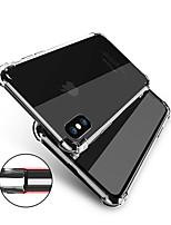 Недорогие -Кейс для Назначение Apple iPhone X iPhone 8 Защита от удара Прозрачный Body Кейс на заднюю панель Однотонный Мягкий ТПУ для iPhone X