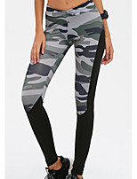 cheap -Women's Daily Basic Legging - Color Block Mid Waist