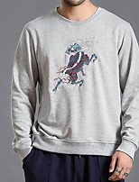 cheap -Men's Basic Sweatshirt - Geometric, Print