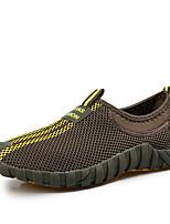 Недорогие -Муж. обувь Тюль Весна / Осень Удобная обувь Кеды Темно-серый / Темно-русый / Темно-зеленый
