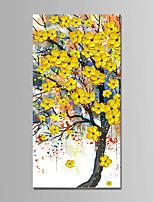 Недорогие -Hang-роспись маслом Ручная роспись - Абстракция Пейзаж Modern холст