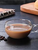 Недорогие -Drinkware Высокое боровое стекло Чайные чашки Стекло Кофейные чашки Компактность Подруга Gift Boyfriend Подарок Милые 1pcs