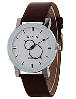 Недорогие -Жен. Кварцевый Модные часы Китайский Крупный циферблат PU Группа минималист Мода Черный Белый Коричневый