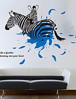 abordables -Autocollants muraux décoratifs - Autocollants muraux animaux Animaux Personnages Salle de séjour Chambre à coucher Salle de bain Cuisine