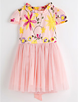 Недорогие -Девочки Классический Цветочный принт Платье