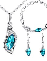 cheap -Women's Rhinestone Jewelry Set 1 Necklace 1 Bracelet Earrings - Fashion Sweet Drop Jewelry Set For Wedding Party
