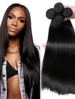 cheap -Brazilian Hair Straight Natural Color Hair Weaves / Human Hair Extensions Human Hair Weaves Extention / Hot Sale Natural Black All