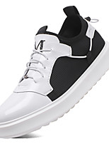 cheap -Men's Shoes Synthetic Microfiber PU PU Tulle Summer Fall Comfort Sneakers Walking Shoes Cycling Shoes for Casual Outdoor White Black