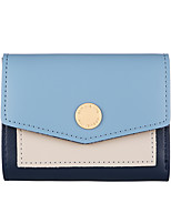 cheap -Women's Bags PU Leather Wallet Buttons for Office & Career Black / Blushing Pink / Beige