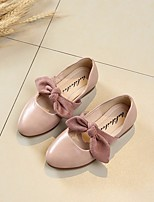 cheap -Girls' Shoes PU Spring Flower Girl Shoes Flats Bowknot for Casual Black Pink