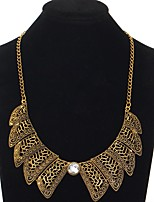 cheap -Women's Collar Necklace  -  Fashion Sweet Wings / Feather Gold Silver 46cm Necklace For Evening Party Club