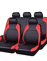 abordables -Couvre-siège Noir Gris Noir/Rouge faux cuir Tissu Business for Universel Universel